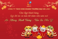 Cong ty Hai Linh gui loi chuc tet den toan the khach hang, doi ta va nhan vien
