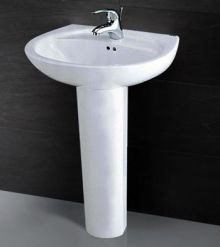 Chậu rửa chân đứng Caesar L2220 + P2437