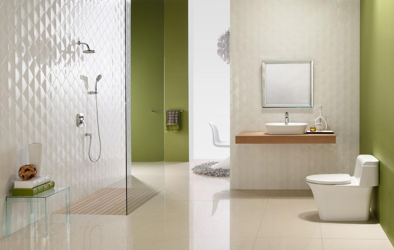 Phòng tắm với bồn cầu caesar cao cấp